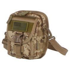Molle Bag, Molle Pouches, Belt Pouch, Pouch Bag, Edc Bag, American Flag Patch, Utility Pouch, Tactical Bag, Messenger Bag Men