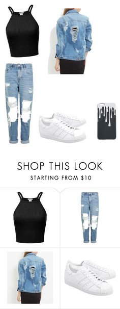 """Untitled #65"" by smileygrace139 on Polyvore featuring Topshop and adidas Originals"