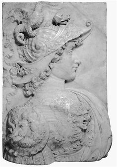 A Florentine relief of Alexander the Great, part of a gift sent to King Matthias Corvinus by Lorenzo d'Medici in the 1480s. (National Gallery of Art)