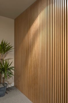 Ideas For Timber Screen Interior Slat Wall Wooden Wall Cladding, Wall Cladding Interior, Wood Slat Wall, Wooden Slats, Interior Walls, Interior Design, Wooden Wall Panels, Timber Battens, Timber Screens
