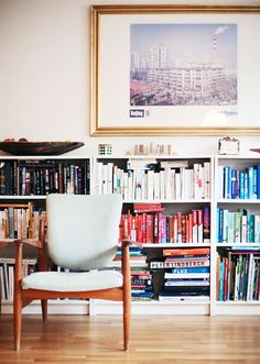 Ikea 'Billy' bookcases filled with books