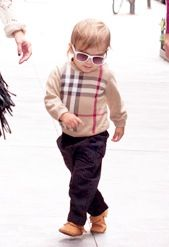 Aw wittle Mason in Burberry. So young yet so classy.