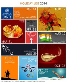 Holiday calendar Design 2014  Metro Style