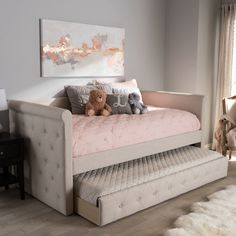 Alena Modern And Contemporary Fabric Daybed With Trundle - Twin - Light Beige - Baxton Studio : Target Decorate Your Room, Bedroom Decor, Furniture, Daybed Room, Home, Daybed With Trundle, Bedroom Design, Home Decor, Room