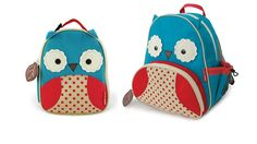 Owl Backpack and Lunch Box by Skip Hop. U have to buy this for yer future kid. Lol so cute! Baby Rucksack, Owl Backpack, Travel Backpack, Skip Hop Zoo, Kids Backpacks, Look Cool, Alter, Little Girls, Kids Fashion