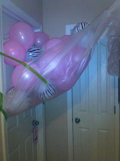 Balloon avalanche! Birthday morning surprise!