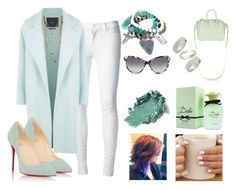 """Mint StreetStyle"" by rikaaglich ❤ liked on Polyvore featuring J Brand, MaxMara, Bee Charming, Topshop, Dolce&Gabbana, STELLA McCARTNEY, Christian Louboutin and Givenchy"