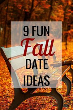 9 Fun Fall Date Ideas  from Very Erin