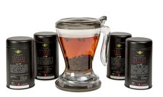 Black Tea & Magic Infuser Gift Set A luxurious collection of four sublime black loose leaf teas paired with a Magic Tea Infuser. An ideal gift for any tea lover. Tea Gift Sets, Tea Gifts, Tea Infuser, Loose Leaf Tea, Teas, Magic, Collection, Black, Tea Favors