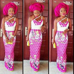 Stepping out in pink!pic via @mauchio.stitches #gele #pink #inspiration #style #guestlook