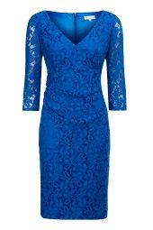 Cobalt Lace Shift Dress