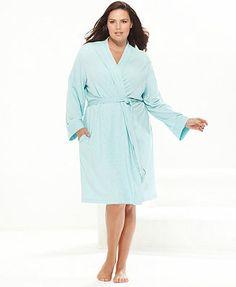 Charter Club Plus Size French Terry Kimono Robe