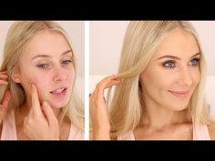 Lauren Curtis // HOW TO COVER ACNE/BLEMISHES! - YouTube