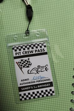 Formula 1 car race cars party invites pit pass on the blog