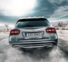 The new Mercedes-Benz #GLA. [Fuel consumption (combined): 6.6-4.3 l/100 km;  CO2 emissions (combined): 154-114 g/km]