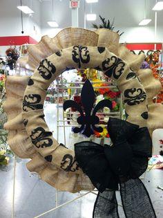 Fleur-de-Lis burlap wreath
