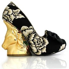 Irregular Choice Trixy black and cream gold unicorn heel size 5 6 7 in Clothes, Shoes & Accessories, Women's Shoes, Heels Shoe Boots, Shoes Heels, Pumps, High Heels, Shoe Cupboard, Unicorn Fashion, Irregular Choice Shoes, Crazy Outfits, Unique Shoes