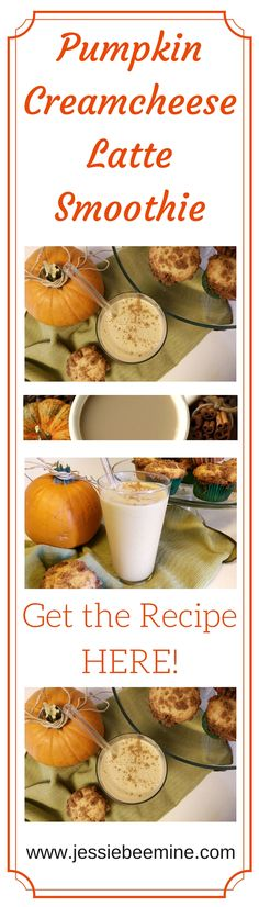 Pumpkin Creamcheese Latte Smoothie - I love to fuel my body with this tasty and healthy treat, Pumpkin Cream Cheese Latte Smoothie.  www.jessiebeemine.com