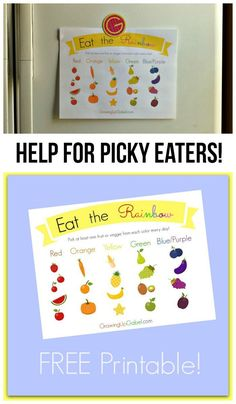 Encourage your picky eater to eat the rainbow every day! | GrowingUpGabel.com