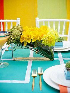 décoration de table originale avec fleurs