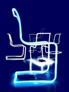 Neon stoelen. Gemaakt door Neon Weka