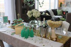 Oscar party ideas...love color scheme too