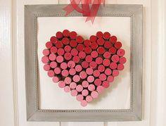 DIY Wine Cork Heart | Wine Cork Heart | Pink | Red | Wine Corks | DIY Wine Cork Projects | DIY Valentine's Day Crafts | Valentine's Day Decor | DIY Valentine's Day Decor | Valentine's Day Decorations | DIY Valentine's Day Decorations | Canvas | Art | Sign | Subway Art | Frame | Hearts | Chevron | Cute Valentine's Day Decor  | Hearts | Holiday Decor | V Day Decor | www.TheHouseCandy.com