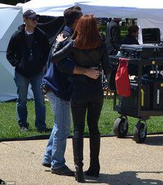 scarlett johannson on set of captain america the winter soldier photos | Scarlett Johansson – on the set of Captain America 2 -04 - Full Size