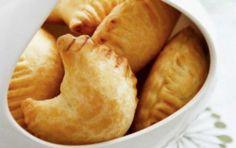 Tyropitakia (Miniature Cheese Pies with Yogurt Dough) - iCookGreek Greek Pastries, Bread And Pastries, Cyprus Food, Healthy School Snacks, Cheese Pies, Greek Cooking, Greek Dishes, Greek Recipes, Food And Drink