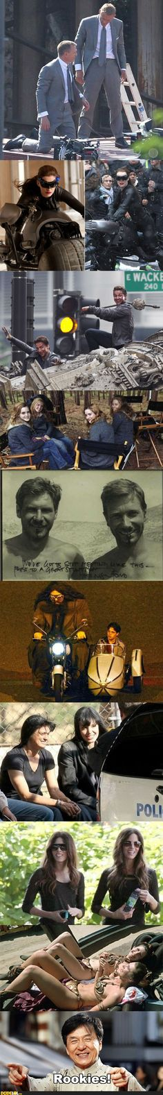 Celebrity and Their Stunt Doubles