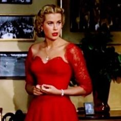 Grace Kelly in Hitchcock's Dial M For Murder. This dress is such a stunner.