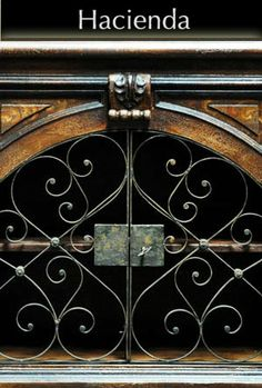Decorating Hacienda Style? Hacienda Furniture with Iron Accents brings that old world look to your room's design.