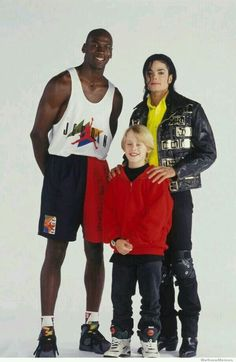 How 90s is this picture? Michael Jordan + Michael Jackson + McCauley Culkin