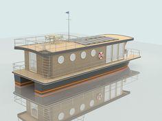 Bateau maison hors-bord / in-bord / fluvial - H2HOME 1490 - Pedro-Boat