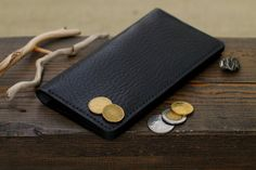 Leather Wallet Mens Wallets Men's Leather Wallet by 22THEPORTALL