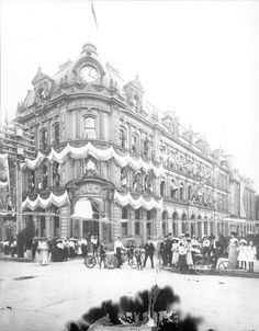 This picture shows spectators standing by the Hamilton Provident & Loan Building and enjoying the festivities of the Carnival. Olympic Club, Hamilton Ontario Canada, The Province, Vintage Photography, Picture Show, New Pictures, Old Photos, Mud, Carnival