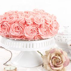 Champagne Rose Genoise Cake this kind of pattern for Millie's smash cake Pretty Cakes, Beautiful Cakes, Amazing Cakes, Champagne Party, Pink Champagne, Cupcakes, Cupcake Cakes, Genoise Cake, Rose Cake