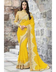 Splendorous Sunny Yellow #Saree