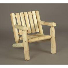 Rustic Natural Cedar Armchair