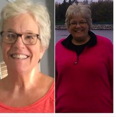"""Robin's Trim Healthy Mama journey! """"I was doubtful that I could lose so much weight because of my age (58) and activity level (bad back, Hashimoto's, THR and more) so, if I can do it anyone can! I have been on plan since Dec. 2016. Lost 71 lbs (gained 4 over holidays!) 25 pounds to goal!! I feel so much better with more energy! To God be the glory!!"""" Robin F. www.TrimHealthyMama.com"""