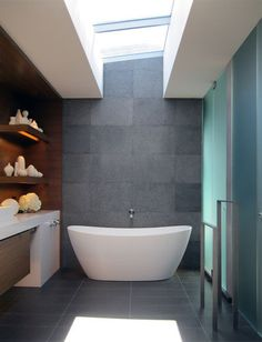 modern bathroom by MAK Studio- like 2 depths of vanity