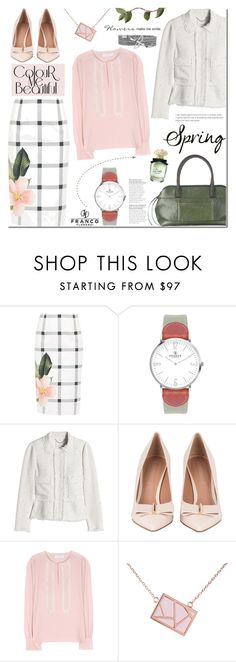 """Franco Florenzi"" by mada-malureanu ❤ liked on Polyvore featuring Ted Baker, VIcenza, Rebecca Taylor, Brunello Cucinelli, See by Chloé, Ona Chan, ruffles and francoflorenzi"
