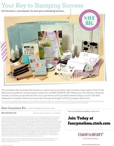 Close to My Heart New Consultant Cardmaker Starter Kit. Only $99 for more than $370 in product. Join the CTMH experience! www.fancymelissa.... #craft #diy #directsales