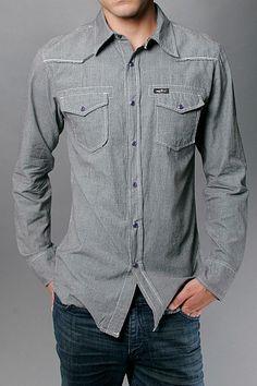 aba0da8156 Another cool shirt from Tank Farm. Denim Button UpButton Up ShirtsWestern  ...