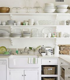 White Kitchen Shelf 15 great design ideas for your kitchen | rustic shelving, kitchen