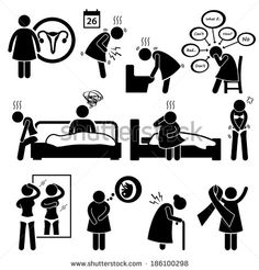 Woman Sickness Illness Diseases Stick Figure Pictogram Icon Cliparts row 2, last image