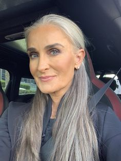 Gray Wigs African Americans Gray Away Temporary Root Concealer Natural Grey Hair Care Natural Grey Hair Care Grey Hair Over 50, Long Gray Hair, Grey Wig, Natural Hair Care, Natural Hair Styles, Long Hair Styles, Grey Hair Care, Grey Hair Inspiration, Makeup For Older Women