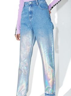 #holographic #jeans