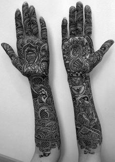 henna art is not permanent.