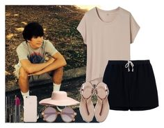 """""""Day out with Hayes"""" by diirectiioner69 ❤ liked on Polyvore featuring Uniqlo, Rick Owens, Elizabeth and James, Zara, H&M, Christian Dior and Bite"""